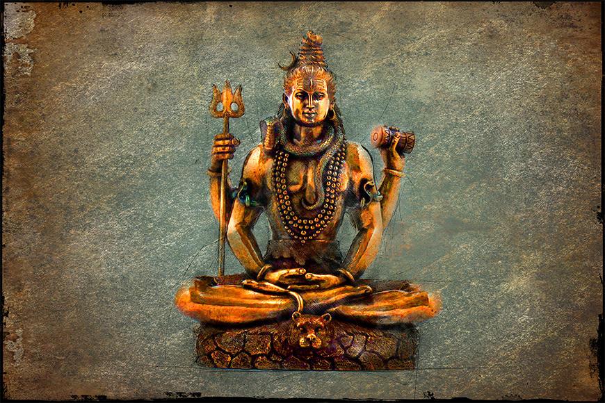 Die Vlies Foto-Tapete Lord Shiva