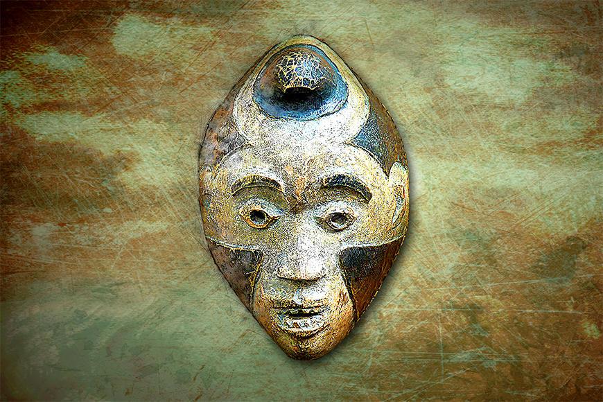 Die Vlies Fototapete Afro Head