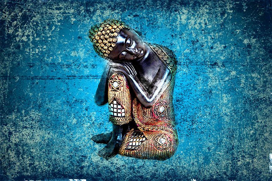 Die Vlies Fototapete Sleeping Buddha