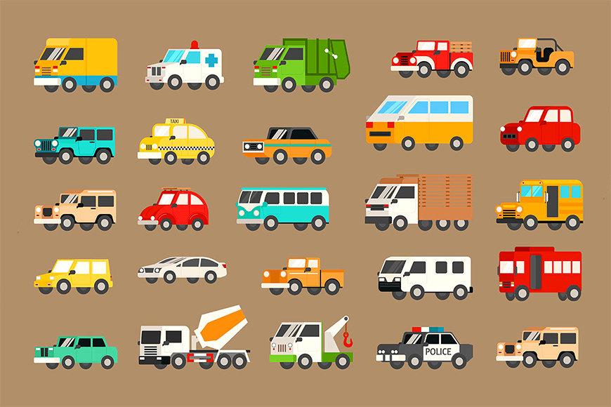 Die Vliestapete Funny Cars
