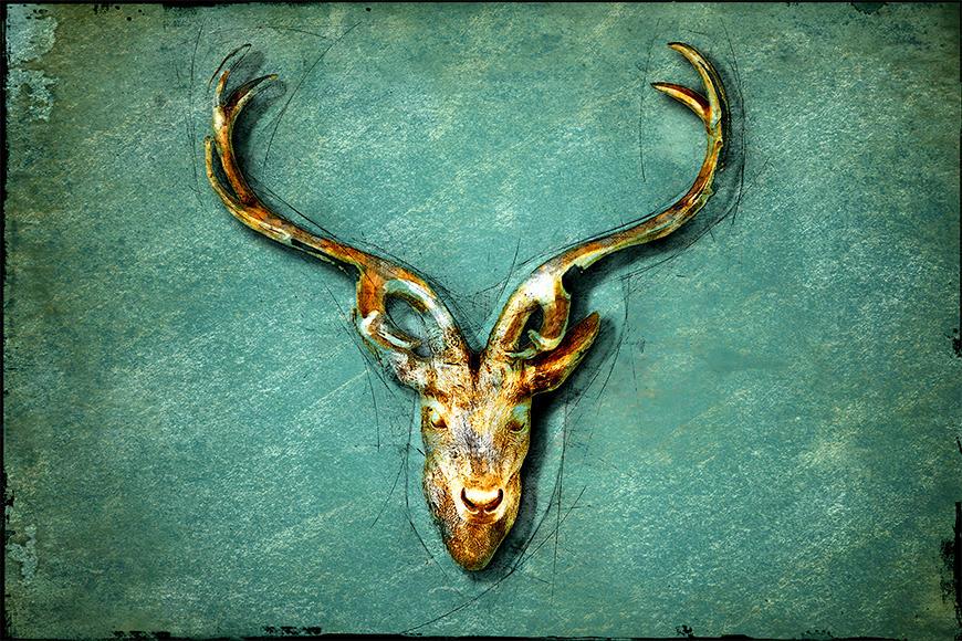 Die Vliestapete The Deer