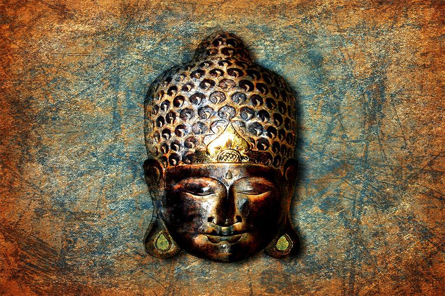 Die hochwertige Vliestapete Buddah Head