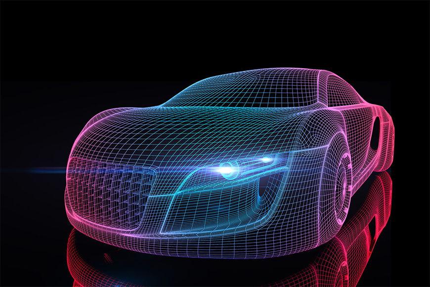 Fototapete Car from Future in S bis XXL