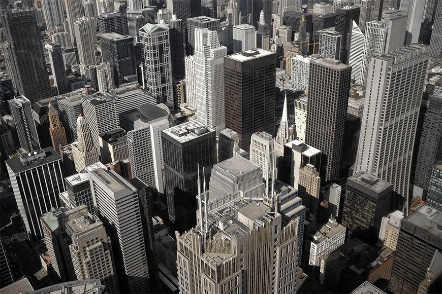 Fototapete Chicago City in S bis XXL