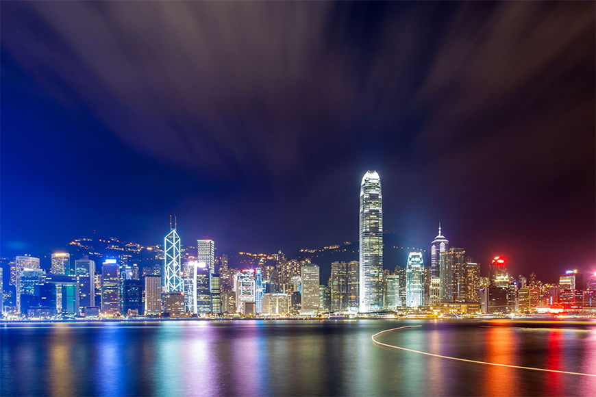Fototapete Hongkong at Night in 6 Größen