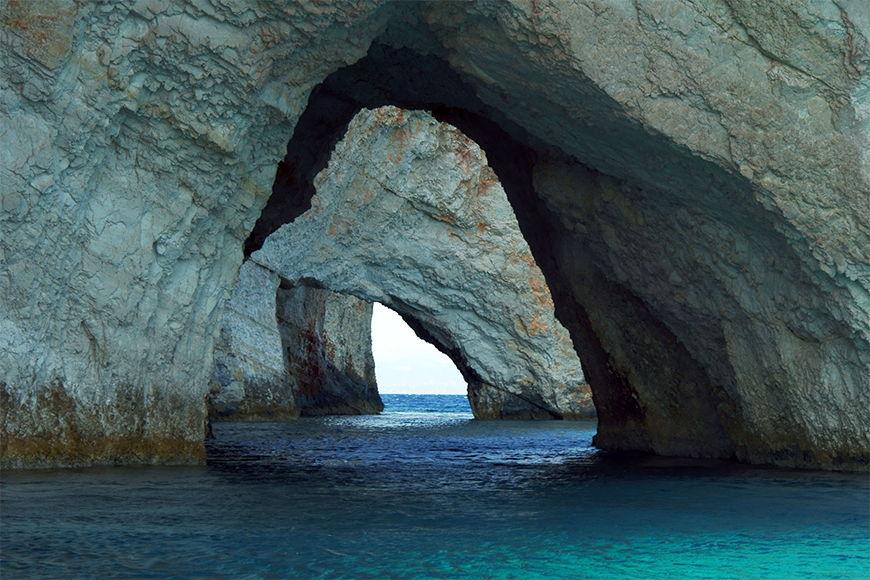 Natur Fototapete Blue Caves ab 120x80cm
