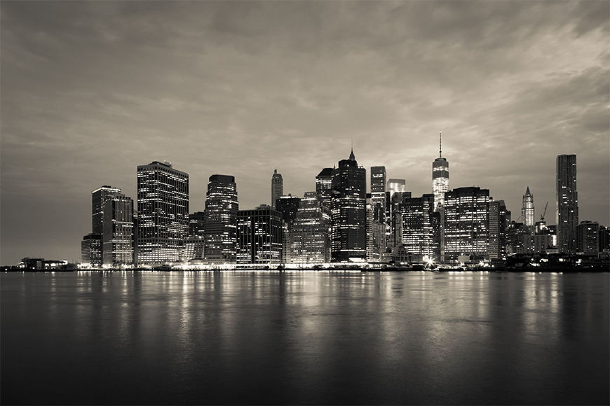 New York Foto Tapete Manhattan Night