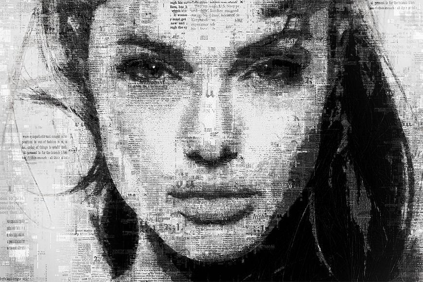 Schönheit auf Tapete Angelina ab 120x80cm