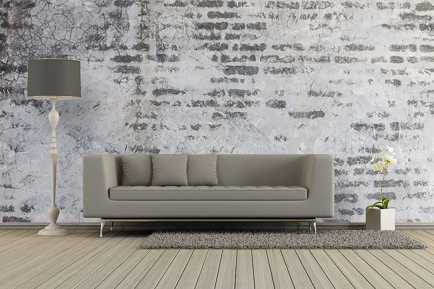 Vliestapete brick wall ab 120x80cm - Deco leisteen muur ...