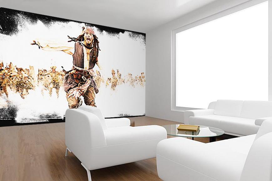 vlies fototapete fluch der karibik ebay. Black Bedroom Furniture Sets. Home Design Ideas