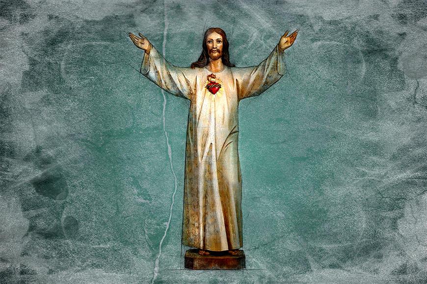 Unsere Vliestapete Blessing Jesus