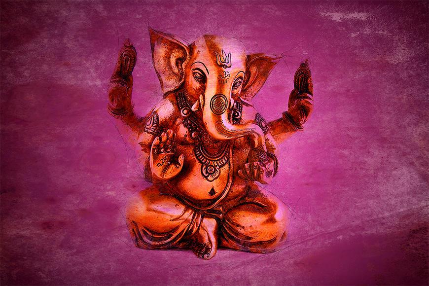 Unsere Vliestapete God Ganesha
