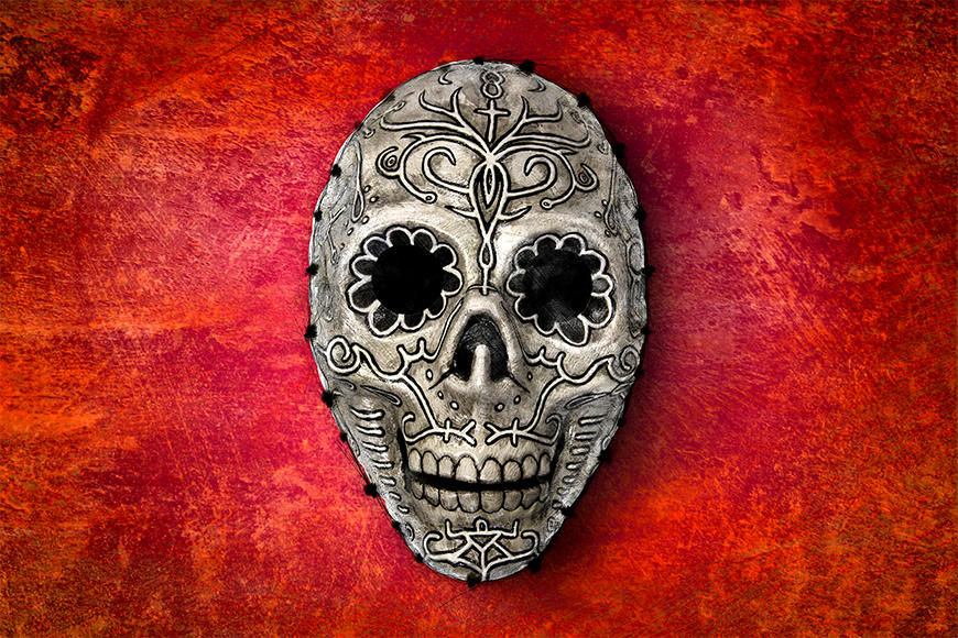 Unsere Vliestapete Skull On Red