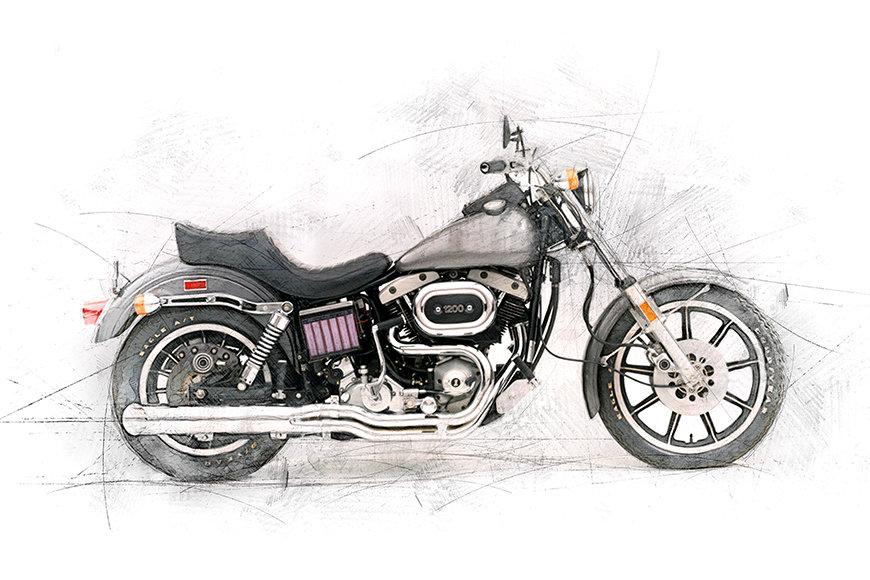 Vlies Foto-Tapete Motocycle