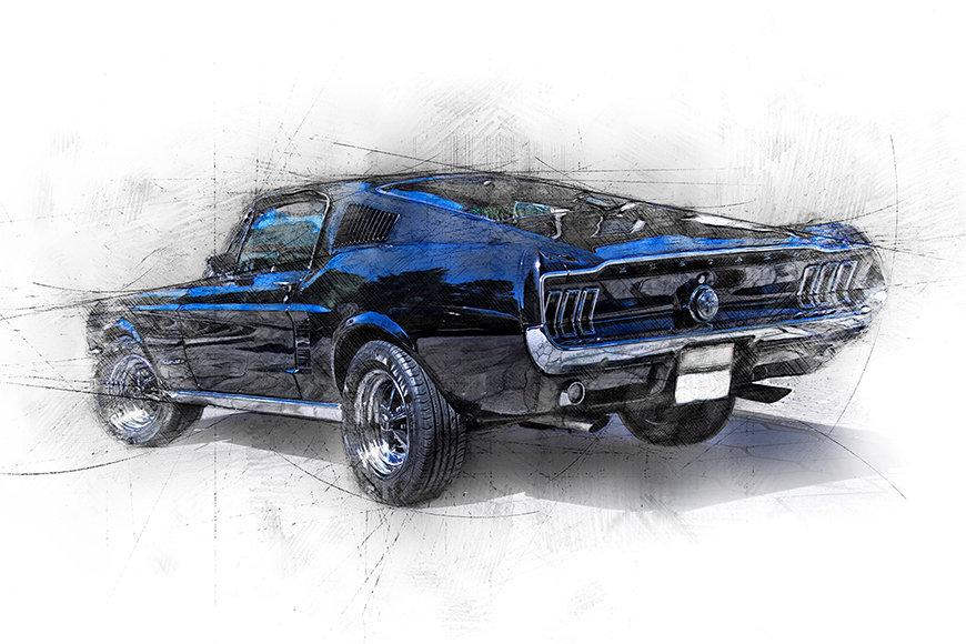 Vlies Foto-Tapete Pure Mustang