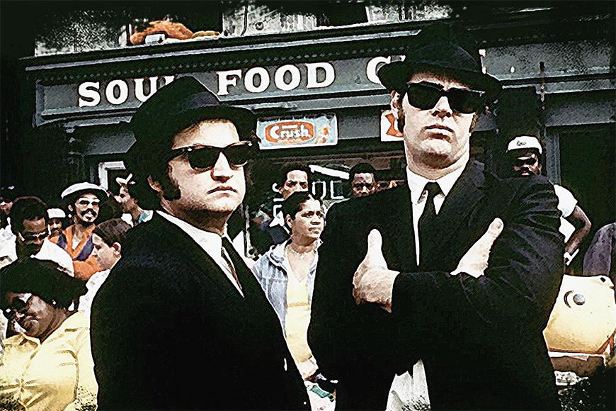 Vlies Fototapete Blues Brothers in S bis XXL