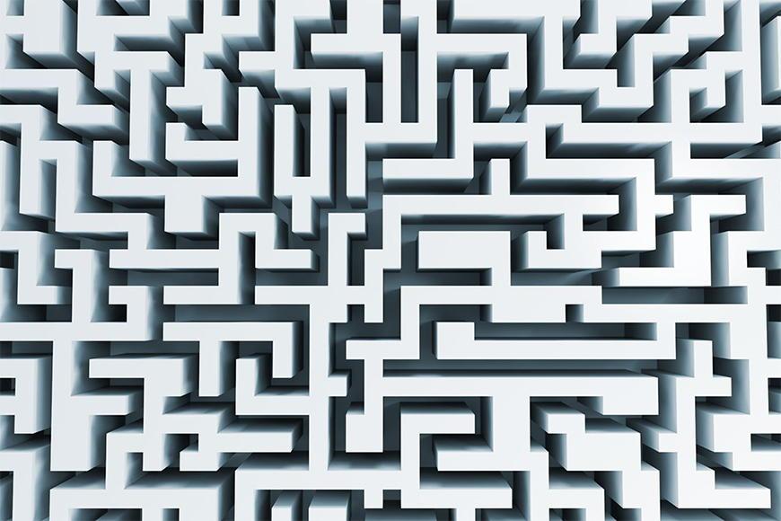 Vlies Fototapete Das Labyrinth ab 120x80cm