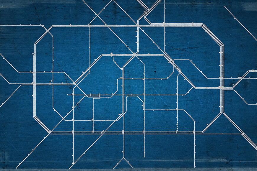 Vlies Fototapete Metro Berlin in S bis XXL