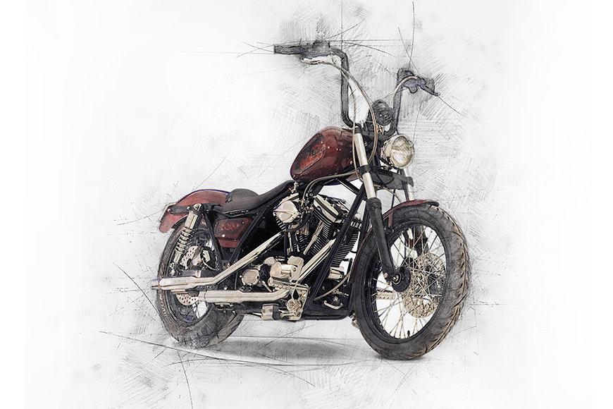 Vlies Fototapete Motorbike