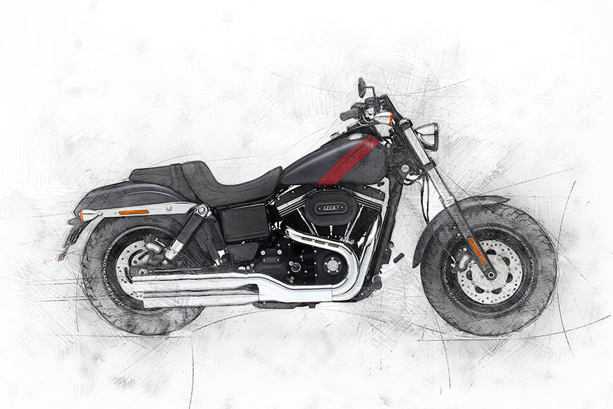 Vlies Fototapete Motorbike Uno