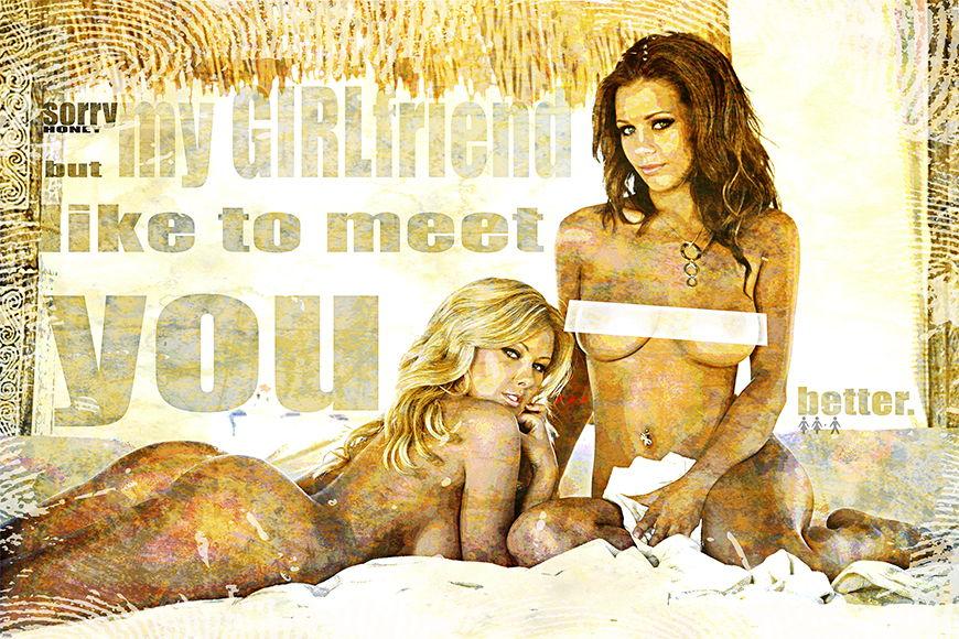 Vlies Fototapete My Girlfriend  ab 120x80cm