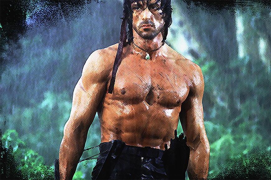 Vlies Fototapete Rambo in S bis XXL