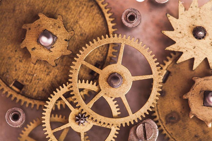 Vlies Fototapete Uhrenwerk ab 120x80cm