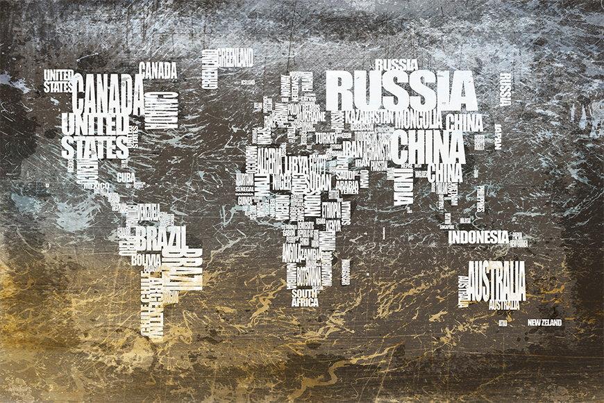 Vlies Fototapete Weltkarte 20 ab 120x80cm