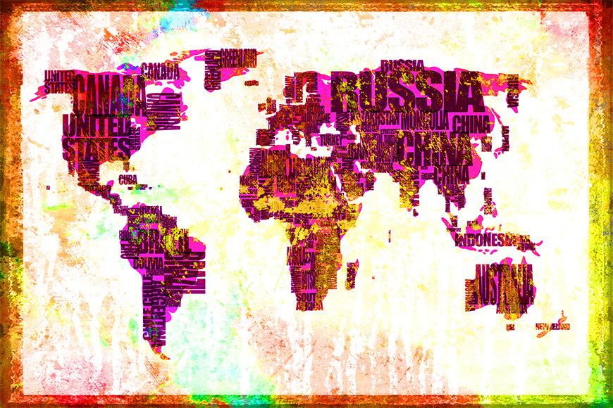 Vlies Fototapete Weltkarte 3 in S bis XXL