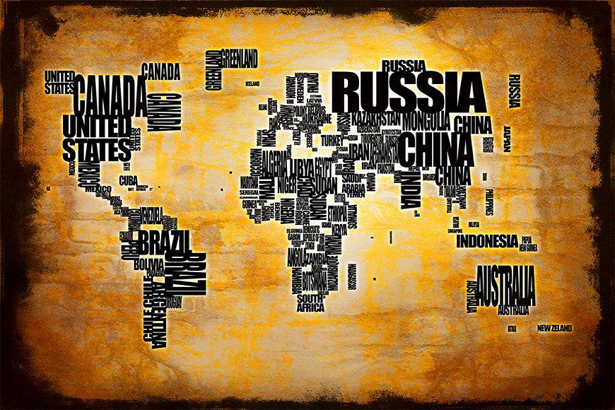 Vlies Fototapete Weltkarte 5 in S bis XXL