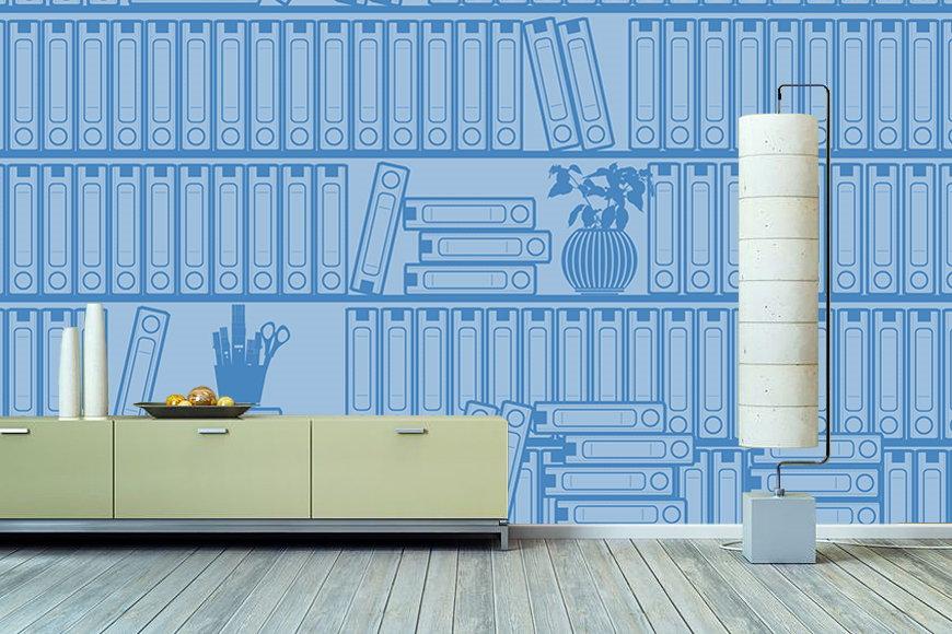 Tapete Bücherregal vlies tapete druck auf hochwertigem tapeten vlies pvc und