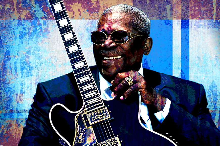 Vlies Tapete BB King ab 120x80cm