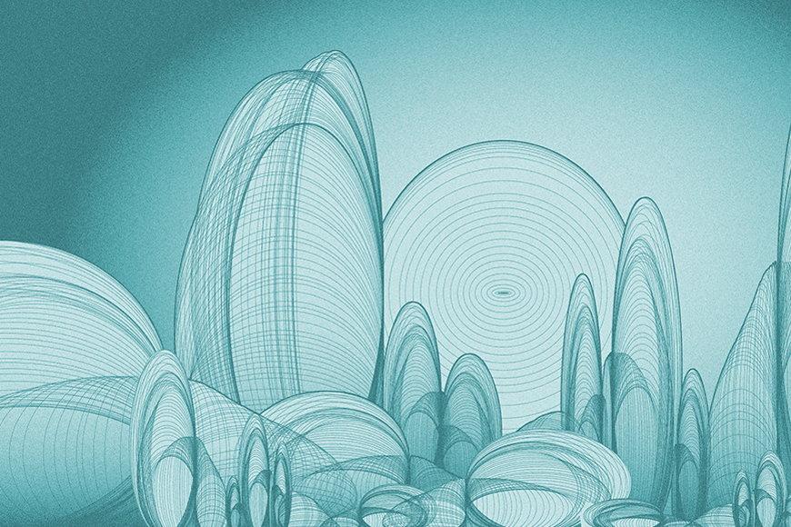 Vlies-Tapete Landschaftentwurf