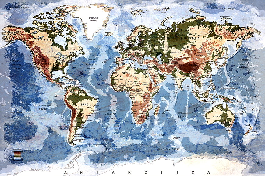 Vlies Tapete Old Worldmap 5 ab 120x80cm