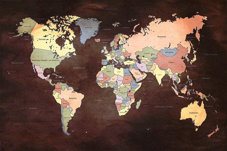 Vliestapete Old Worldmap 2 ab 120x80cm