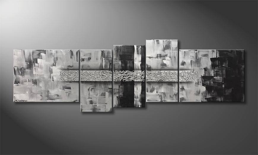 Das Leinwandbild Across Borders 210x70x2cm
