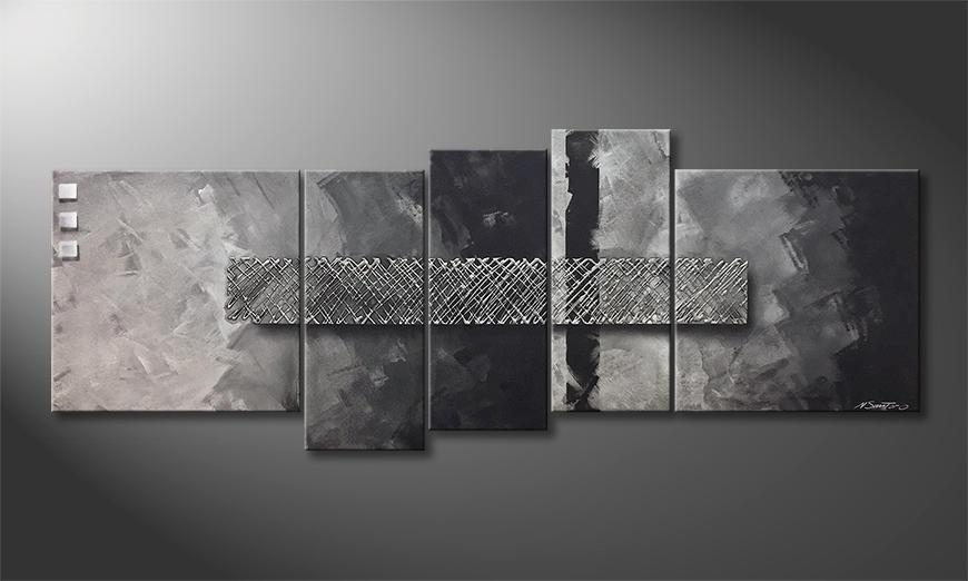 Das Leinwandbild Broken Fog 210x80x2cm