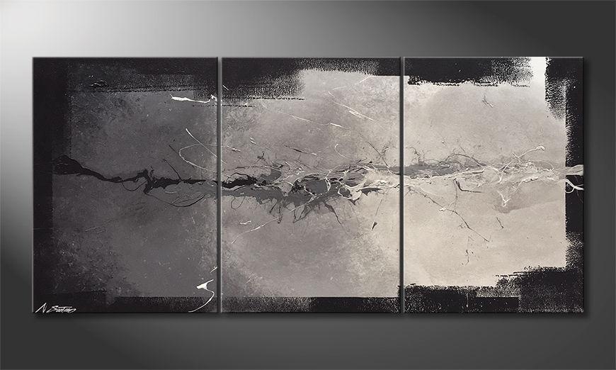 Das Leinwandbild Cloud Splash 150x70x2cm
