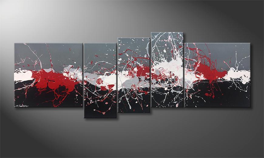 Das Leinwandbild Emotional Blast 210x80x2cm