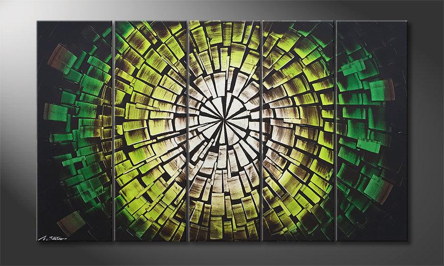 Das Leinwandbild Garden Of Babylon 150x90x2cm