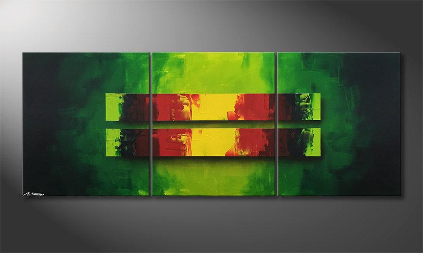 Das Leinwandbild Jungle Fever 180x70x2cm