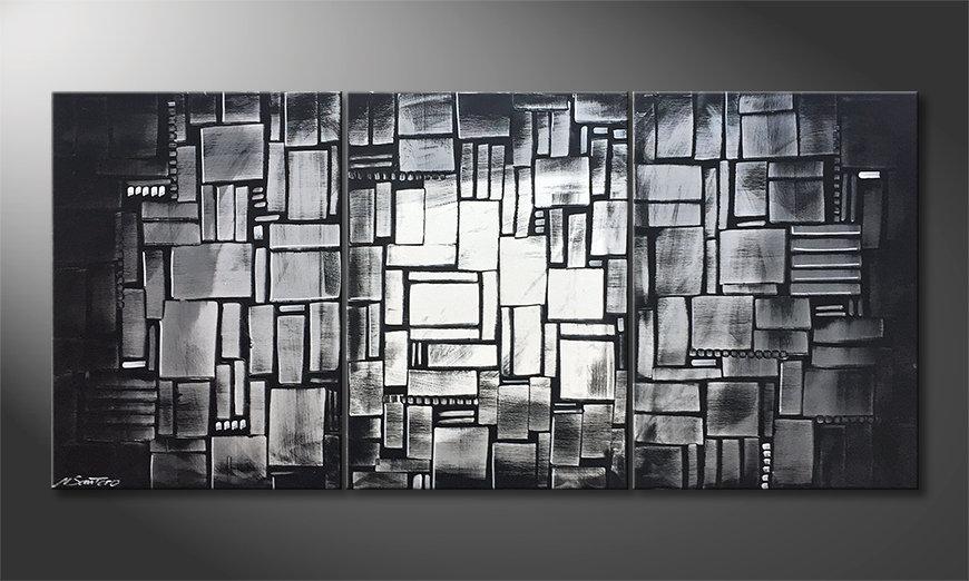 Das Leinwandbild Layered Light 150x70x2cm