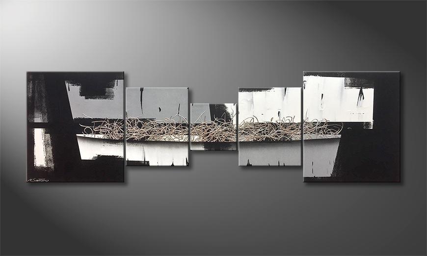 Das Leinwandbild Light And Shadows 230x70x2cm