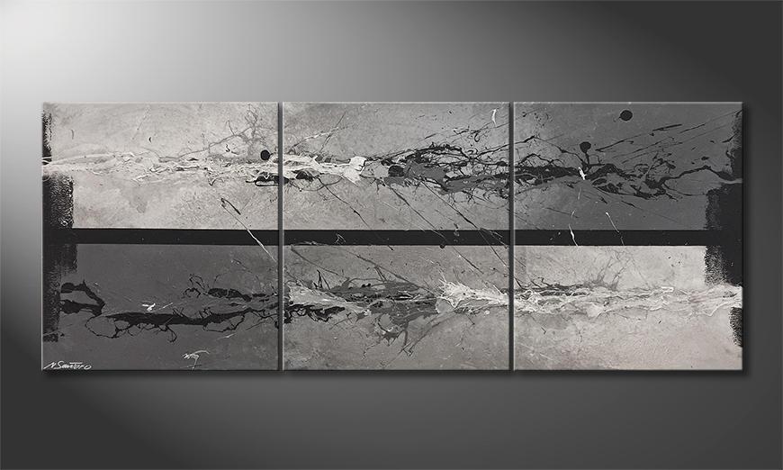 Das Leinwandbild Liquid Ice 180x70x2cm