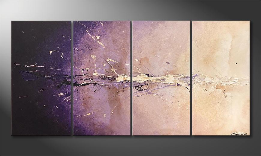 Das Leinwandbild Purple Dream 160x80x2cm