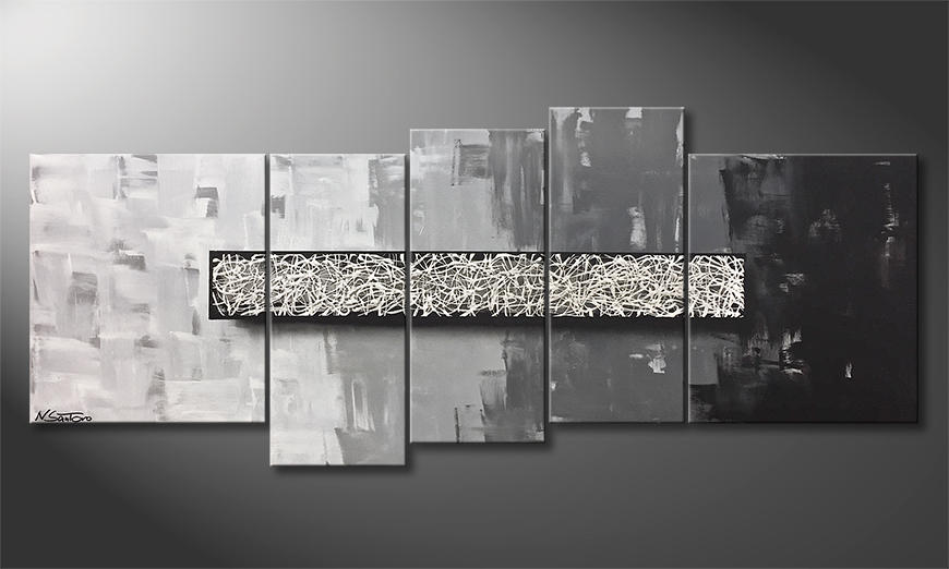 Das Leinwandbild Quiet Noise 190x80x2cm