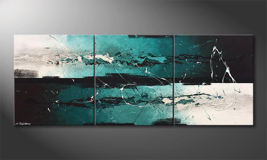 Das Leinwandbild Refreshness 180x70x2cm