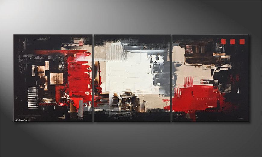 Das Leinwandbild Rumble Of Light 180x70x2cm