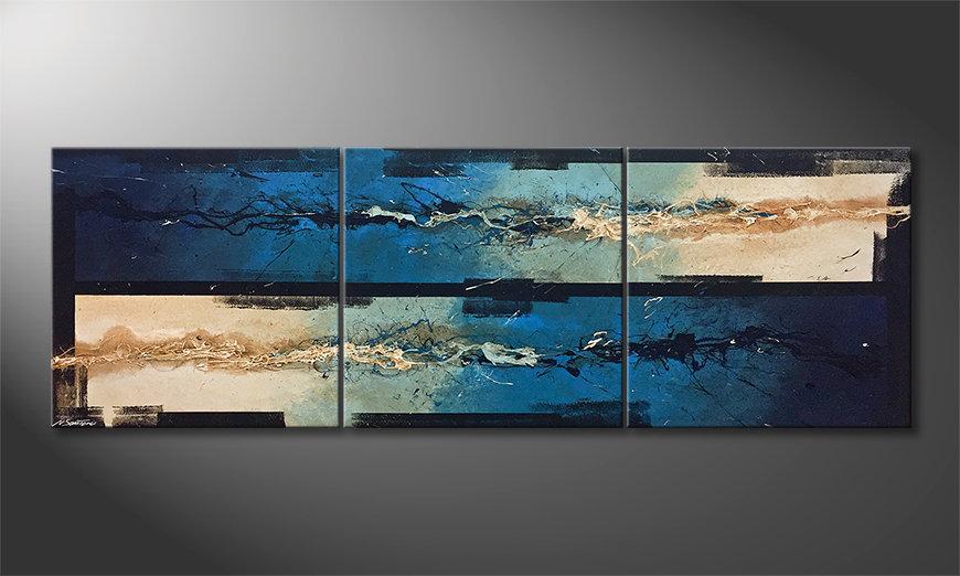 Das Leinwandbild Water Push 240x80x2cm