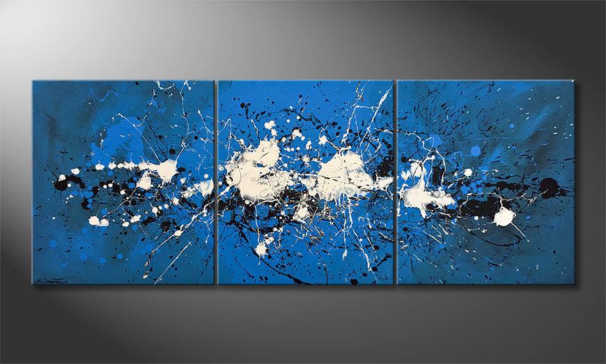 Das Leinwandbild Water Spectacle 180x70x2cm